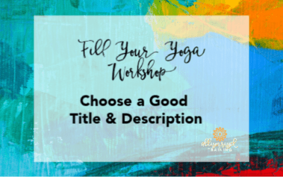 Fill Your Workshop With A Good Title & Description