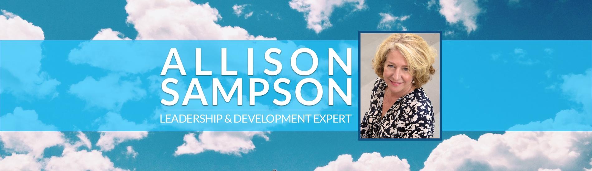 Allison Sampson banner with photo of Allison Sampson