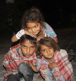 Young gypsy children in Dasada, India.