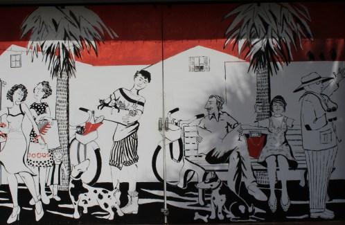 Painted commercial garage doors.