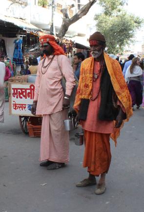 Holy men in Pushkar.