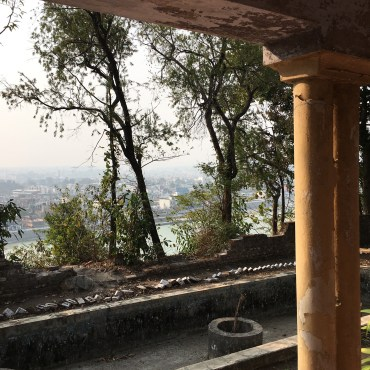 View of the Ganges from Maharishi's home.