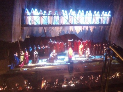 """The climax of Act 2: Opening night of """"I Due Foscari"""" at LA Opera (photo by CK Dexter Haven)"""