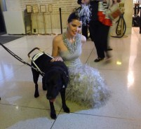 """Opera dog always gets the ladies, in this case Linda Taylor: Opening night of """"I Due Foscari"""" at LA Opera (photo by S. Williams for LA Opera)"""
