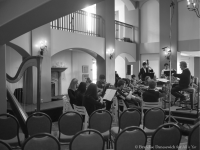 James Conlon rehearsing SMHS chamber orchestra (side in BW 2)