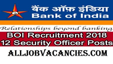 Photo of Bank of India Jobs 2018: 12 Security Officer for Any Graduate