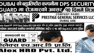 Photo of 30 Candidates Required For DPS Security guard job in UAE