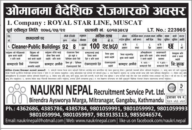 NAUKRI NEPAL RECRUITMENT