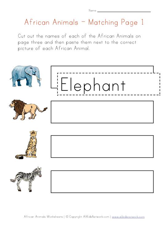 Printable Word Webs - African Safari Animal Print Lion Tiger Leopard