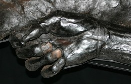 The hand of Grauballe Man, a Danish bog body dating to the last years of the 3rd century B.C.