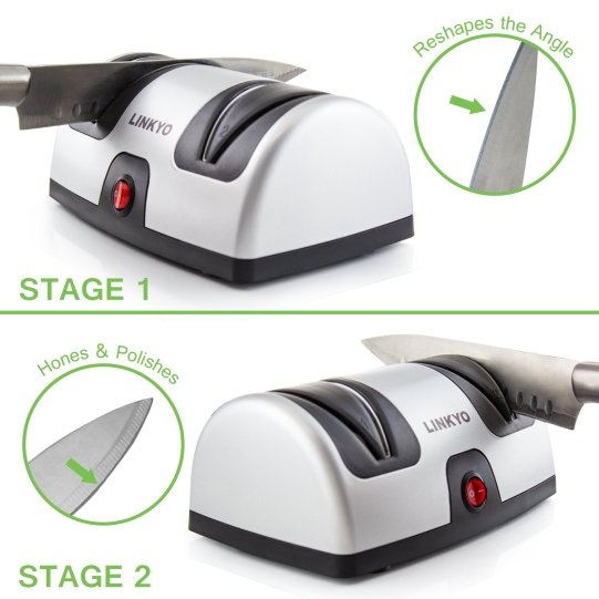 best electric knife sharpener linkyo 2 stages