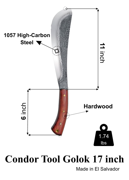Condor Tool 11 inch blade with sheath