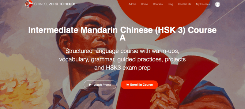 Chinese Zero to Hero! is an affordable online Mandarin course