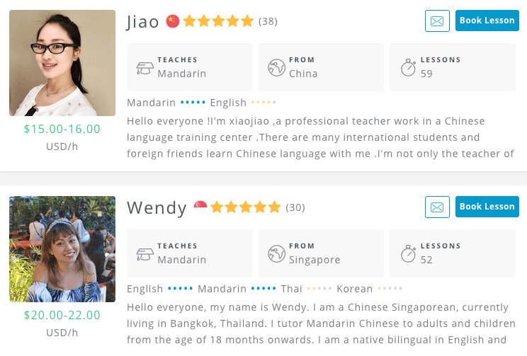Find a Chinese teacher on Verbling