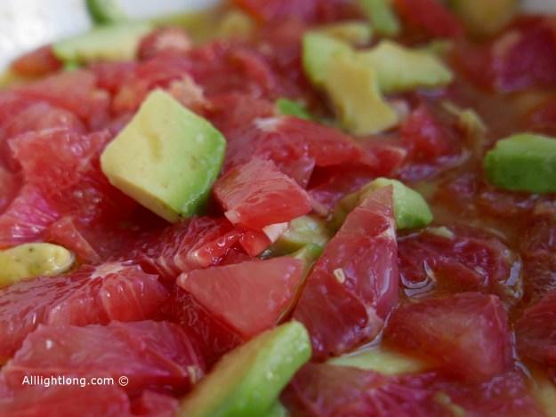 Salade avocat pamplemousse et huile d'olive cuisine trop facile