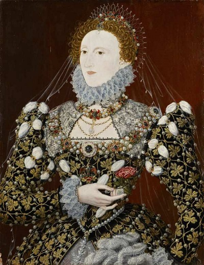 Elisabeth Ière dit Le Portrait au phénix vers 1575. © National Portrait Gallery, London, England