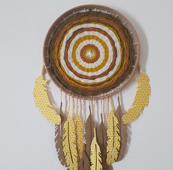 Tuto diy DREAMCATCHER TISSAGE & CARTON