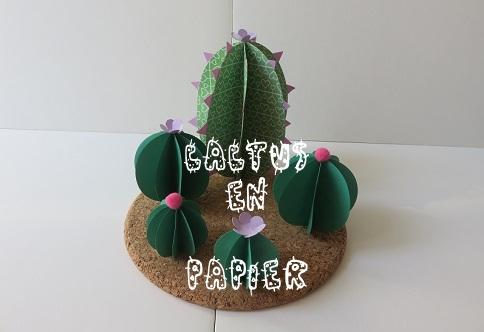 002.cactus en papier