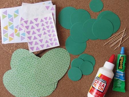 1.cactus en papier