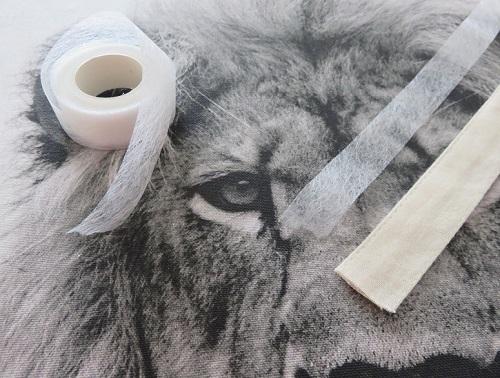 6.Tissu imprimé customisé le LION