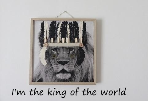 Tissu imprimé customisé le LION king