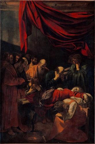 Michelangelo MERISI, dit CARAVAGE (CARAVAGGIO) (Milan , 1571 - Porto Ercole, 1610) La Mort de la Vierge 1601 - 1605/1606