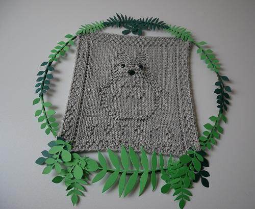 10. DIY knitting totoro craft