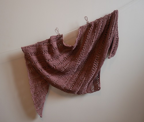 3.knitted stormy sky shawl