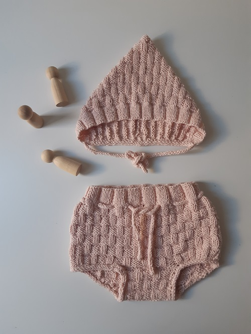 7.Picnic baby bloomer and Pixie hat