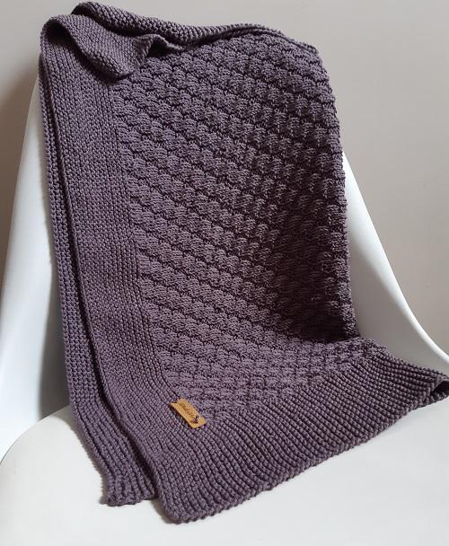 tuto tricot couverture bébé Yolande 13
