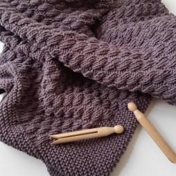 tuto tricot couverture bébé Yolande 15
