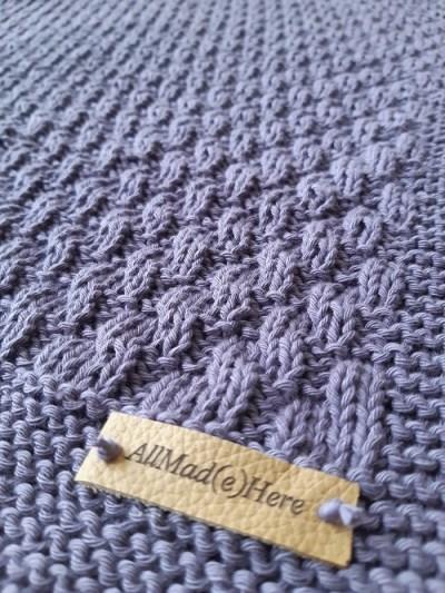 tuto tricot couverture bébé Yolande 7