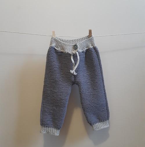 Layette babypants au tricot pour baby boy