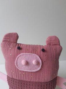doudou cochon tissu 1