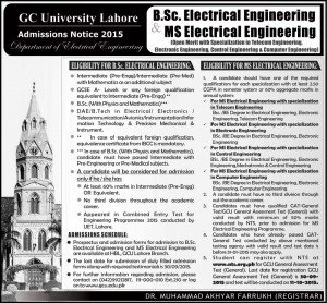 bsc ms electrical gc