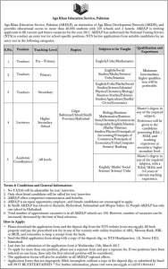 agha khan jobs