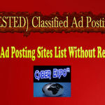 180 (TESTED) Classified Ad Posting Sites List Without Registration