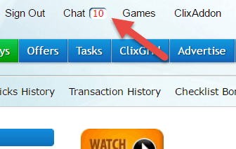 Help people to from Clixsense chat