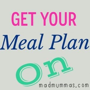 Meal Plan Week 15 - 2014