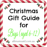 Christmas Gift Guide for Boys (ages 6-12)