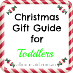 Christmas Gift Guide for Toddlers