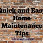 Quick and Easy Home Maintenance Tips
