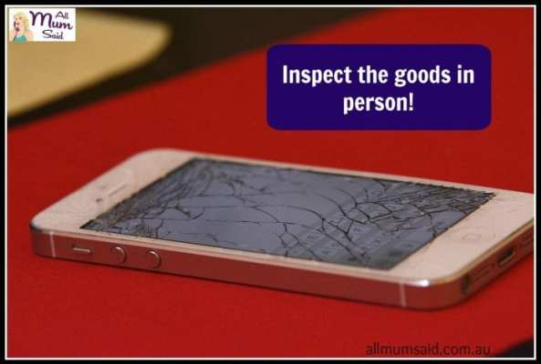 buying a used phone | All Mum Said | Inspect | Tip