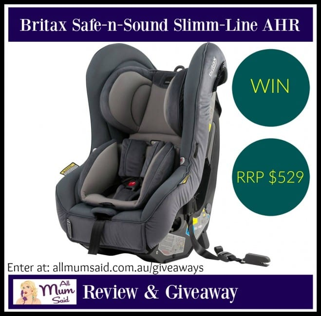 Britax Safe-n-Sound Slimm-Line AHR Review + Giveaway