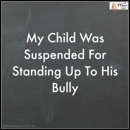stand up to bully