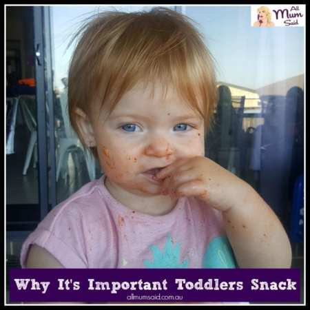The importance of toddlers snacking