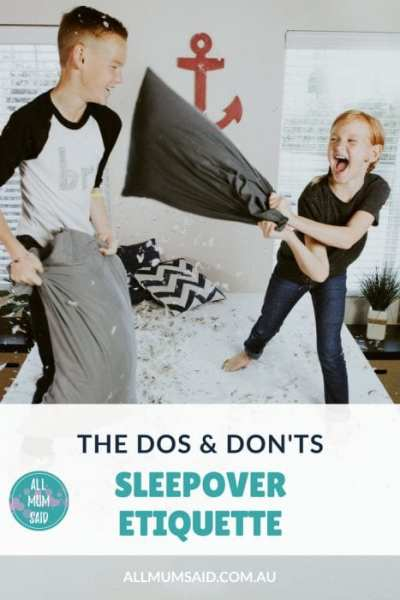 Sleepover Etiquette | Planning a sleepover? Here's what you should and shouldn't do. #kids #kidssleepover #sleepoverideas #kidsparties #kidsparty