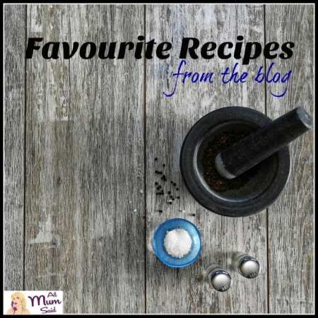 favourite recipes from the blog