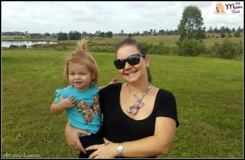 Mum and toddler at the park wearing Knotlace Australian fashion jewellery