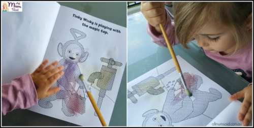 Teletubbies magic paint book